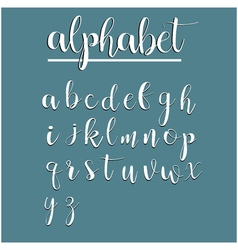 English alphabet calligraphy lettering modern vector image