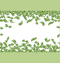 Falling money pattern dollar banknotes flying vector