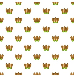 Fence with plants pattern cartoon style vector image