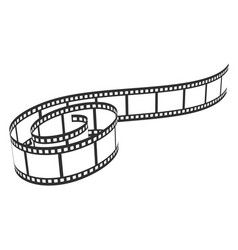 film reel icon cinema and movie filmstrip vector image