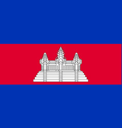 Flag of kingdom of cambodia vector