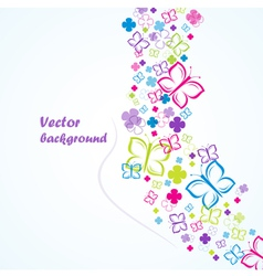 flowers and butterflies background vector image