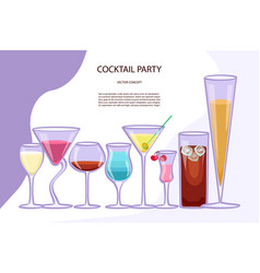 flyer for cocktail party vector image