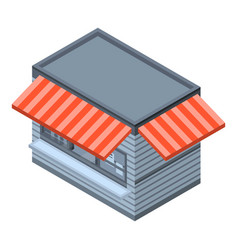 food street shop icon isometric style vector image