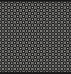 geometric seamless pattern with circles and rings vector image