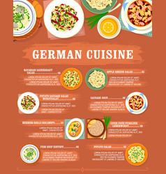 German cuisine menu germany restaurant food dishes vector