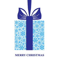 gift snow blue vector image