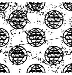 Global network pattern grunge monochrome vector
