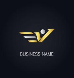 Gold v active logo vector