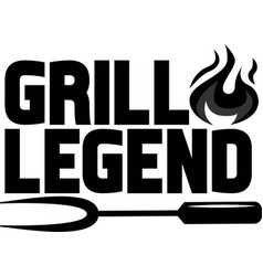 Grill legend on white background vector