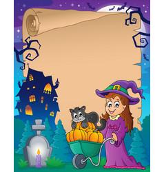 Halloween parchment 6 vector