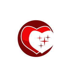 heart modern logo design template vector image