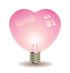 Heart Shaped Lightbulb vector image
