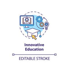 Innovative education concept icon vector