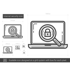 Internet security line icon vector