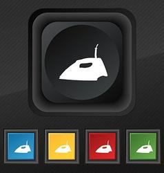 Iron icon symbol Set of five colorful stylish vector