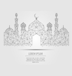islamic mosque geometric polygonal art vector image
