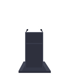 Isolate podium or pulpit on white background vector