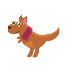 Kangaroo wearing purple scarf vector