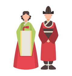 korea korean characters culture traditional vector image