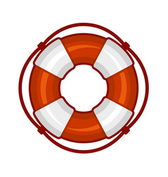 Life buoy icon on white background vector
