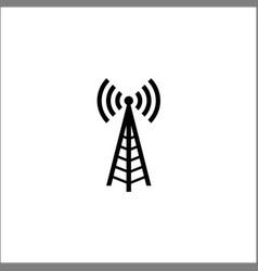 logo radio antenna wireless vector image