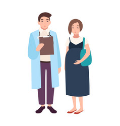 male doctor medical adviser obstetrician or vector image