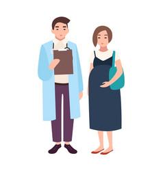 Male doctor medical adviser obstetrician vector