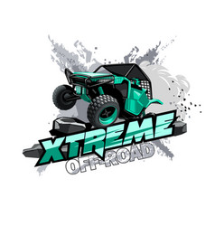 Off-road atv buggy logo extreme race vector
