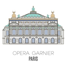 Opera Garnier Paris France vector image