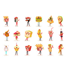 people wearing fast food snacks costumes disguised vector image
