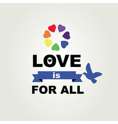 Poster Love is for all vector