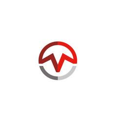 Round letter m geometry logo vector