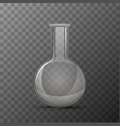 round transparent flask for chemicals experiments vector image