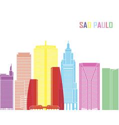 sao paulo v2 skyline pop vector image