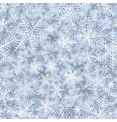 Seamless winter background of snowflake vector