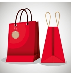 shopping bags market isolated icon vector image