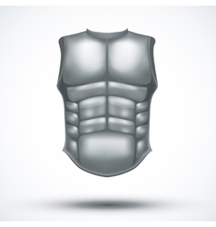 Silver ancient gladiator body armor vector image