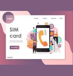 sim card website landing page design vector image