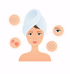 Skin problems solution home remedies skincare vector