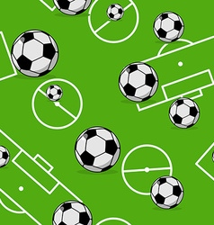 Soccer ball seamless pattern Sports accessory vector image