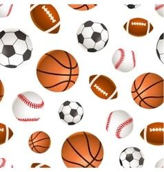 sport balls for soccer basketball baseball vector image