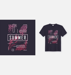 summer t-shirt and apparel modern design with vector image