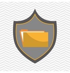 symbol folder file archive vector image