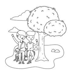 teenage boys friends design vector image