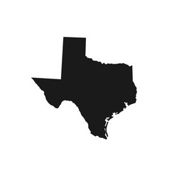 texas state usa - solid black silhouette map vector image