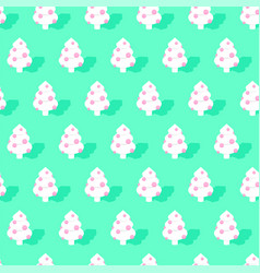 trendy christmas pattern seamless xmas winter vector image