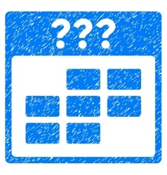 Unknown month calendar grid grainy texture icon vector