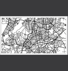 Vilnius lithuania map in black and white color vector