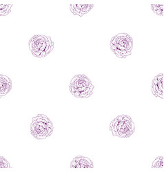 vintage seamless floral pattern beautiful rose vector image